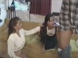 Mommy Teaches Daughter how to Satisfy her Man