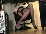 Spying Fathers Hot Secretary Under Desc!