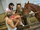 Young Girl Loves Horses So Much
