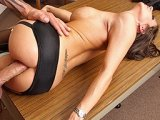 Brunette Milf Gets Her Ass Destroyed On The Table