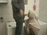 Arab Dad Playing With Daughters Girlfriend In Toilet