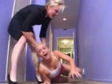 Furious Mom Dragging Babysitter To Her Lover To Be Fucked