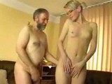 Beautiful Shy Teen Girl Taught by Older Man