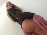 Sexy Blonde Teases With Her Round Booty And Then Sucks A Cock