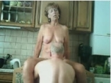 Horny Senior Couple Have Sex in Their Kitchen