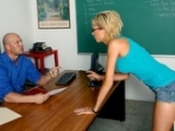 Slutty Blonde Girl Sucks And Fucks Her Professor To Pass The Class