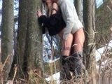 Couple Caught Fucking In The Woods