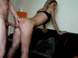 Sexy Blonde Babe Fucked In Standing Position