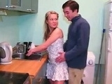 Hot Teen Surprised In The Kitchen
