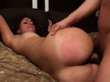 Brunette With Tight Ass Gets A Hard Cock