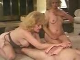 Two Horny Grannies Share A Huge Cock