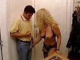 Big Boobed Blonde Housewife Seduced Young Delivery Boy