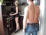 Hot Mom Surprised In The Kitchen By Young Boy