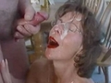 Mature Wife With Glasses Gets Facialized