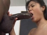 Horny Asian Babe Sucks And Fucks Monster Black Cock