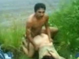Amateur Indian Couple Interrupted While Fucking On The Riverside