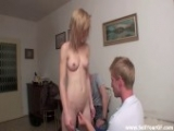 Tiny Blonde Teen Fucks To Earn Some Cash
