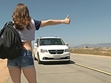 Sexy Hitchhiker Girl Fucks Stranger For A Ride Home