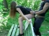 Teen Girl Fucked On Bench In The Park