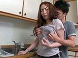 Asian Housewife Grabbed and Fucked In The Kitchen