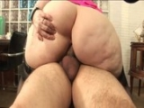 Fat Blonde Chick Fucks Fat Guys Cock