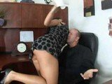 Brunette violently fucked by her boss