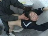 Girl Roughly Fucked in a School Toilet