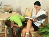 His New Secretary Pass The Test For A Job