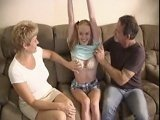 Mom and Dad Fucked the new Babysitter