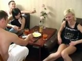 Drunk Russian Students in Hardcore Orgy at Home