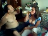 Iraqi Guy Gets His Brothers Busty Step Daughter Drunk To Fuck Her