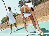 Playing A Tennis With My Friends Daughter