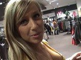 Blonde College Girl Fucks In Shoping Mall