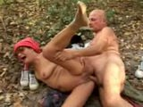 Old Mature Couple Hot Outdoor Fucking