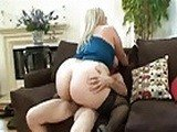 Big Ass Blonde Milf Rides A Big Cock