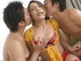 Hot Asian Chick Tries Threesome With Two Friends