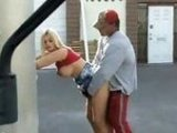 Horny Dude Fucks Sexy Ass Bitch On Public Place