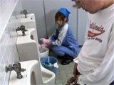Asian Toilet Cleaning Lady Roughly Fucked By Stranger
