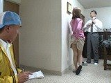 Slutty Wife Provokes Sales Boy While Prepares Her Husband For Work