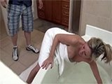 Milf Stuck Her Hand In The Tub And Asked Boy For Help