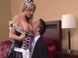 Awesome Titted Maid Makes Her Boss Craves For Pussy